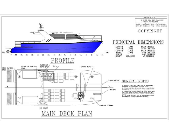 13.6M Crew Boat