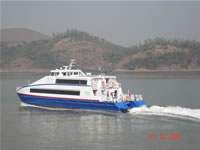 33 meter alumium Passenger cat lauunched in china